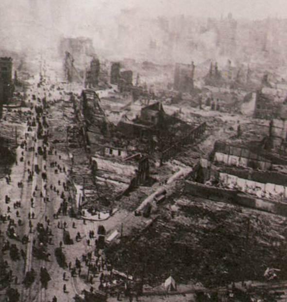 Землетрясение в Сан-Франциско. 1906 год. | Сан-франциско, Природа, Мир | 623x591